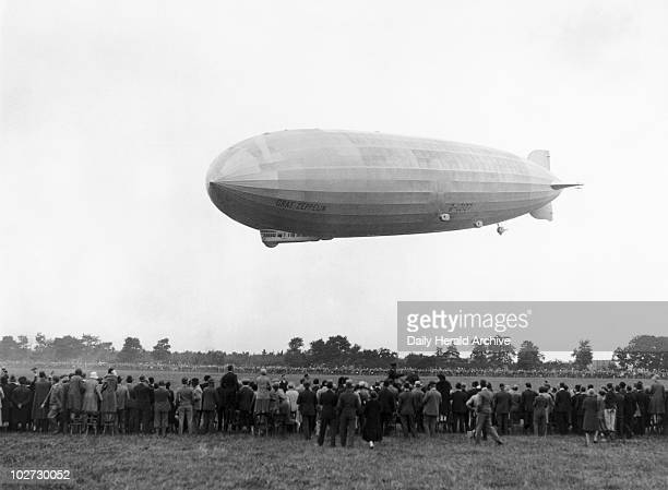 Graf Zeppelin arriving at Hanworth 18 August 1931 Photograph taken at Hanworth aerodrome near Hounslow in Greater London by Harold Tomlin for the...
