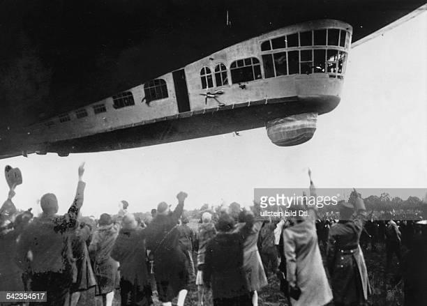 LZ127 'Graf Zeppelin' Aufstieg des 'Graf Zeppelin' zurAmerikafahrt