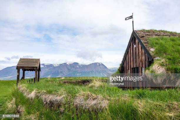 Grafarkirkja turf church, Iceland