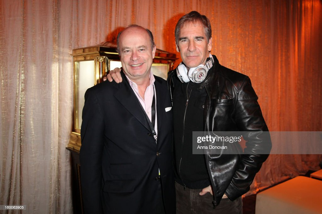 Graff Diamonds' director of sales Eduard E. van der Geest and SAG Awards Committee member <a gi-track='captionPersonalityLinkClicked' href=/galleries/search?phrase=Scott+Bakula&family=editorial&specificpeople=217589 ng-click='$event.stopPropagation()'>Scott Bakula</a> attend Award ceremony and Gala behind-the-scenes set up for the 19th Annual Screen Actors Guild Awards at The Shrine Expo Hall on January 25, 2013 in Los Angeles, California.