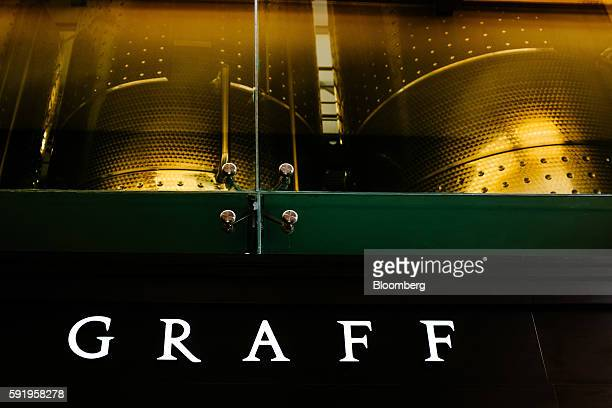 A Graff logo sits on display at the Delaire Graff Estate in Stellenbosch South Africa on Thursday Aug 18 2016 Billionaire jeweler Laurence Graff...