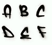 Graffiti alphabet A - F