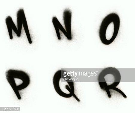 Graffiti alphabet M - R