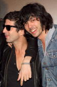 Graffiti artist Andre and Xavier de Rosnay from Justice arrive at the Belvedere IX Launch Party on February 5 2009 in Hollywood California