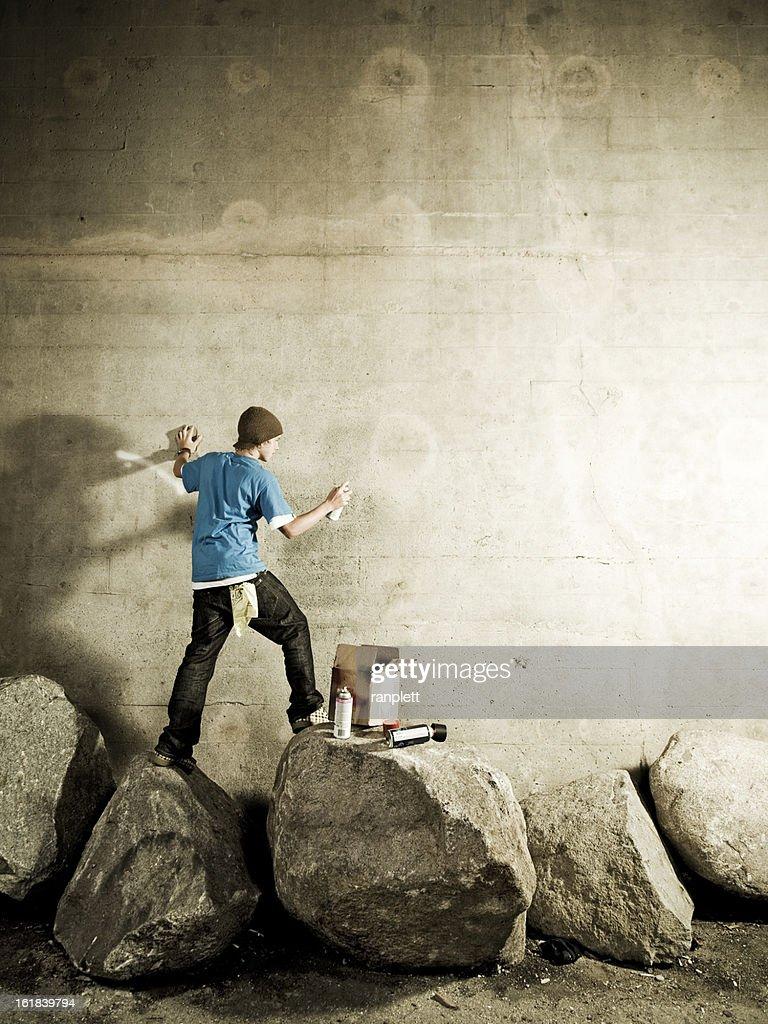Graffiti Artist with Copyspace