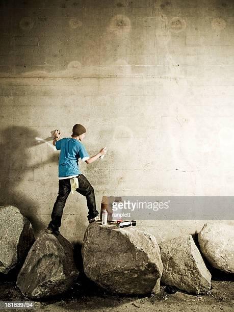 Artista de Graffiti com Copyspace