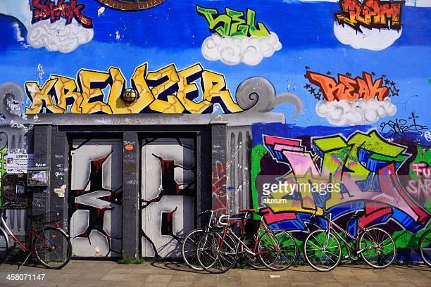 Graffiti In Kreuzberg in Berlin, Deutschland