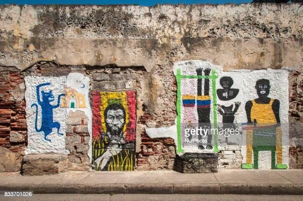 Graffiti depicting legacy of slavery in Cartagena Colombia Photo taken 30 December 2011