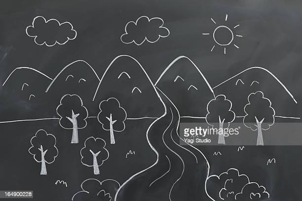 Graffiti image of nature