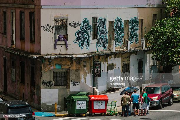 Graffiti is seen on the walls of a building in the Old City of San Juan Puerto Rico on Wednesday July 8 2015 A growing number of Republicans in the...