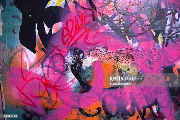 Graffiti on a wall, Taksim, Istanbul, Turkey