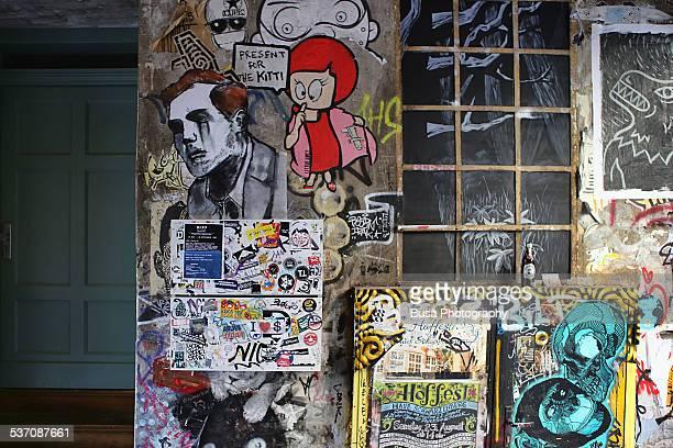 Graffiti on the walls of Haus Schwarzenberg