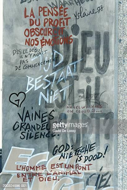 Graffiti on wall, close-up