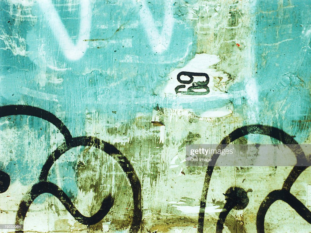 Graffiti on wall : Stock Photo