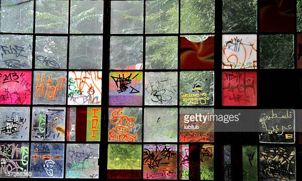 Graffiti on Windows  in Berlin (Series)