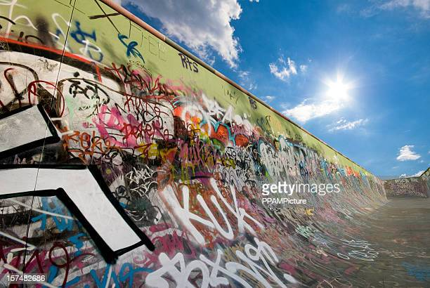 Graffiti Skateboard-Auffahrt