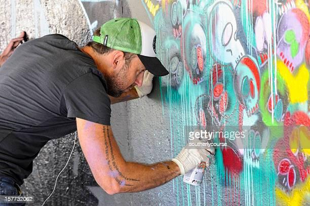 Graffitti artista London South Bank