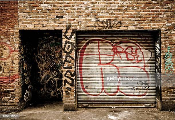 Grafitti in Gasse in Victoria, British Columbia