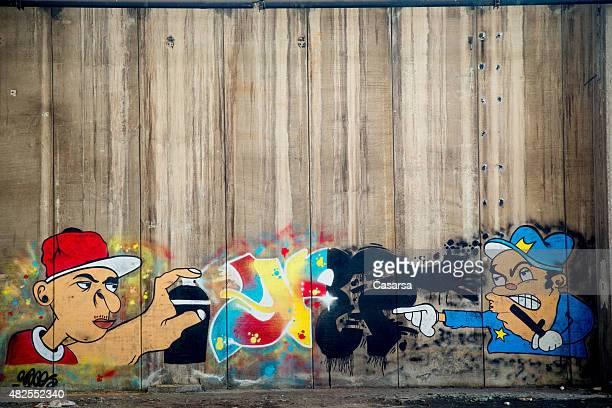 Grafitti on grungy wall