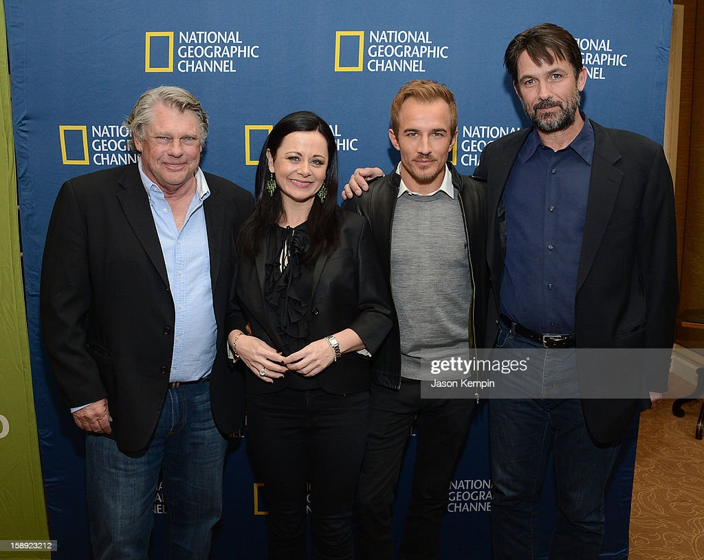 Graham Beckel, Geraldine Hughes, Jesse Johnson and Billy Campbell attend the National Geographic Channels' '2013 Winter TCA' Cocktail Party at the Langham Huntington Hotel on January 3, 2013 in Pasadena, California.