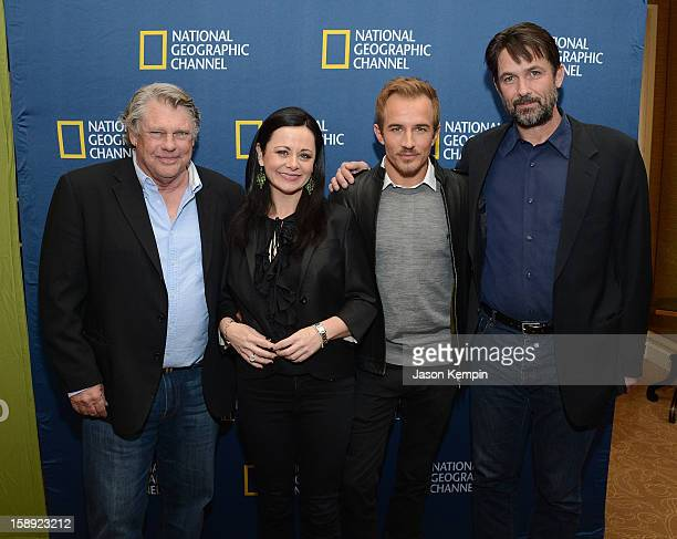 Graham Beckel Geraldine Hughes Jesse Johnson and Billy Campbell attend the National Geographic Channels' '2013 Winter TCA' Cocktail Party at the...