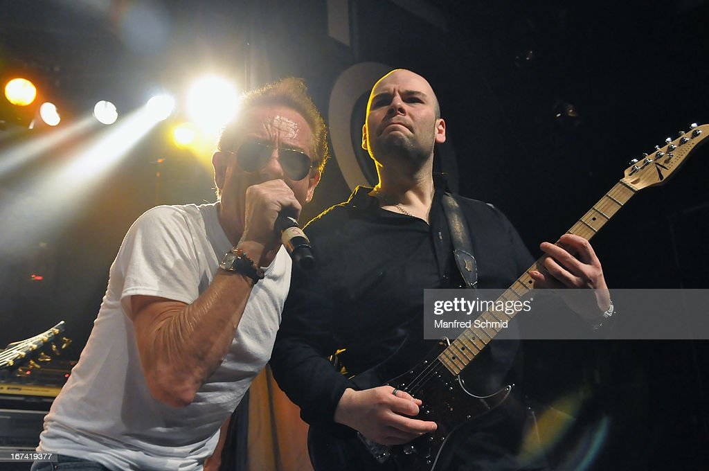 Graham Bonnet formerly of Rainbow and Sayit Doelen perform onstage during the 30th anniversary party of Szene Wien on April 18, 2013 in Vienna, Austria.