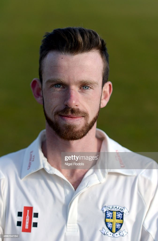 Graham Clark of Durham poses for a portrait during the Durham CCC Photocall at The Riverside on March 31 2015 in ChesterleStreet England
