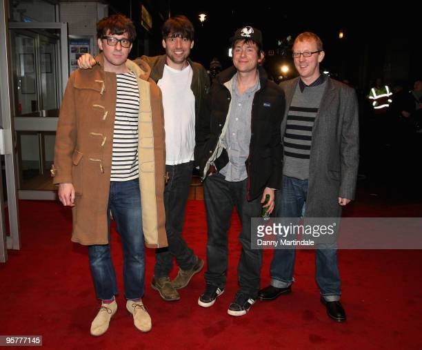 Graham Coxon Alex James Damon Albarn and Dave Rowntree attend World Premiere of 'No Distance To Run' a documentary about the band Blur at Odeon West...