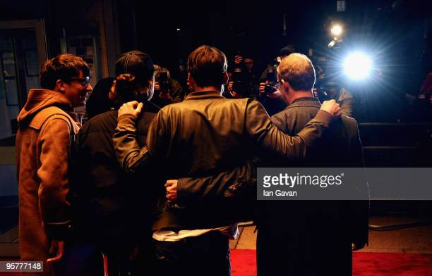 Graham Coxon Alex James Damon Albarn and Dave Rowntree of Blur attend the World Premiere of 'No Distance Left To Run' at the Odeon West End on...
