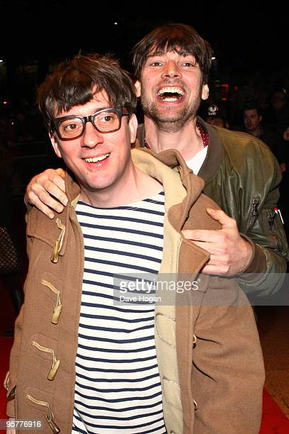 Graham Coxon and Alex James of Blur attend the world premiere of 'No Distance Left To Run' a documentary film about Blur held the at Odeon West End...