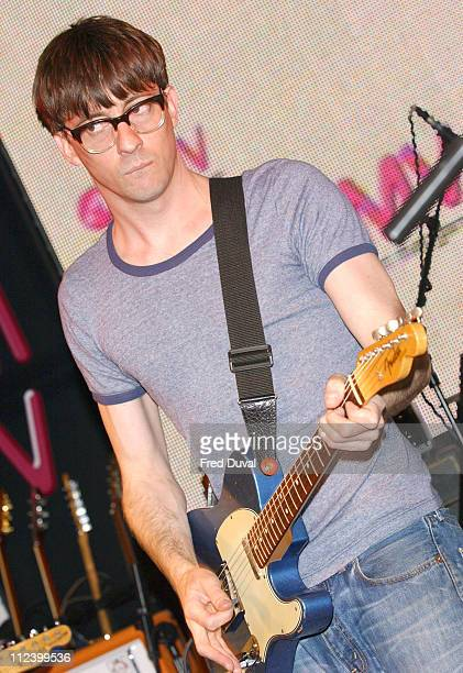 Graham Coxon during Graham Coxon Performs at HMV to Promote New Album 'Happiness in Magazines' at HMV Oxford Street in London Great Britain