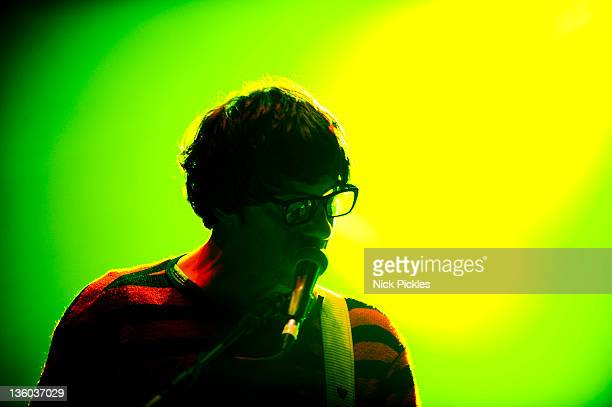 Graham Coxon performs at the Crisis Stand Up and Rock Christmas fundraiser at Hammersmith Apollo on December 20 2011 in London England