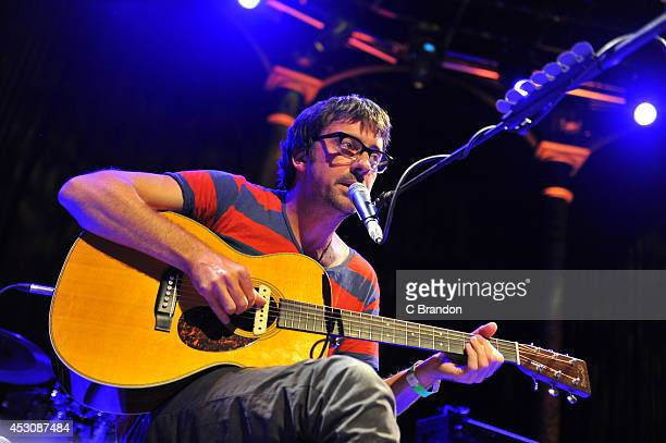 Graham Coxon performs on stage at The Roundhouse on August 2 2014 in London United Kingdom