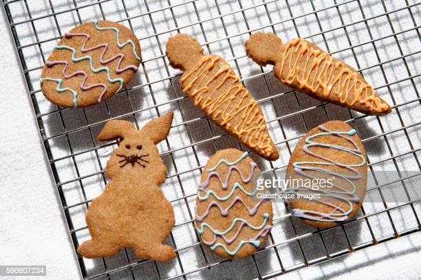 Graham Cracker Easter Cookies on Cooling Rack