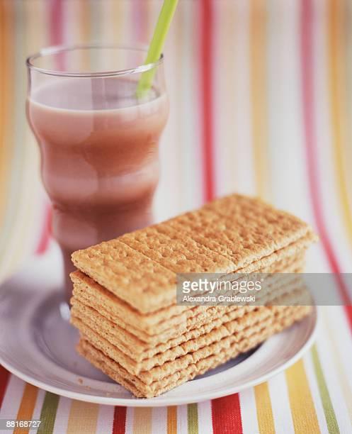 Graham crackers and chocolate milk