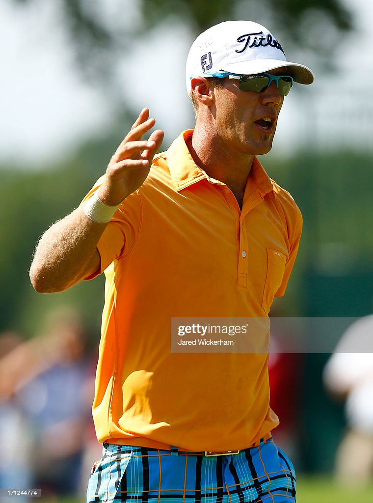 Graham DeLaet of Canada acknowledges the crowd during the final round of the 2013 Travelers Championship at TPC River Highlands on June 23, 2012 in Cromwell, Connecticut.