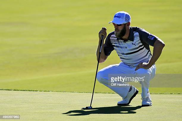 Graham DeLaet of Canada lines up his shot during the second round of the Shriners Hospitals For Children Open on October 23 2015 at TPC Summerlin in...