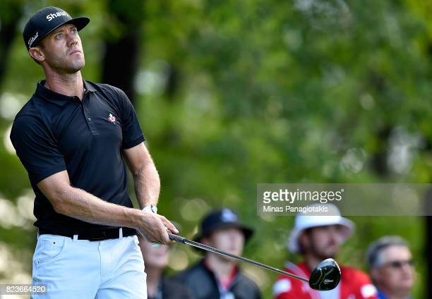 Graham DeLaet of Canada plays his shot from the 11th tee during round one of the RBC Canadian Open at Glen Abbey Golf Club on July 27 2017 in...