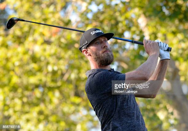 Graham DeLaet of Canada plays his shot from the 17th tee during the third round of the Safeway Open at the North Course of the Silverado Resort and...