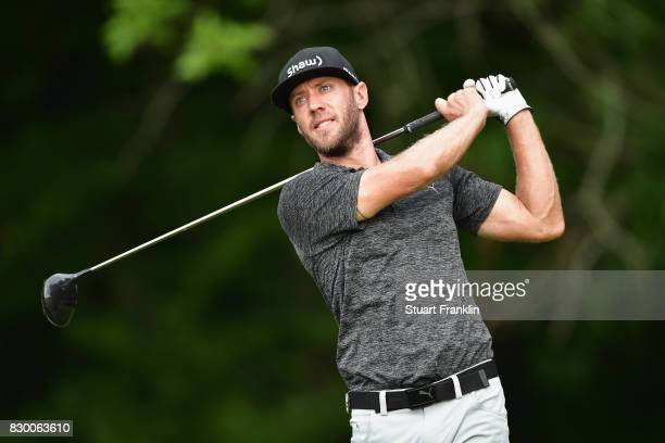 Graham DeLaet of Canada plays his shot from the fifth tee during the second round of the 2017 PGA Championship at Quail Hollow Club on August 11 2017...