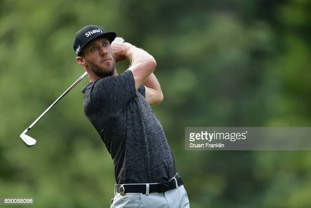 Graham DeLaet of Canada plays his shot from the third tee during the second round of the 2017 PGA Championship at Quail Hollow Club on August 11 2017...