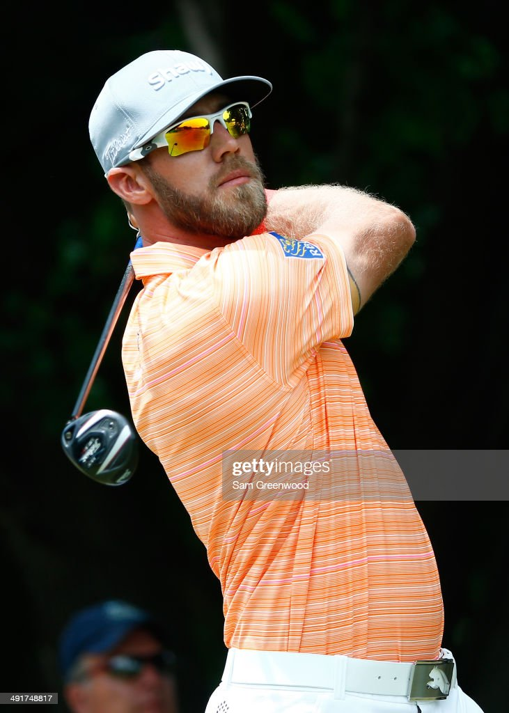 Graham DeLaet of Canada plays his tee shot on the first hole during the third round of the HP Byron Nelson Championship at the TPC Four Seasons on...