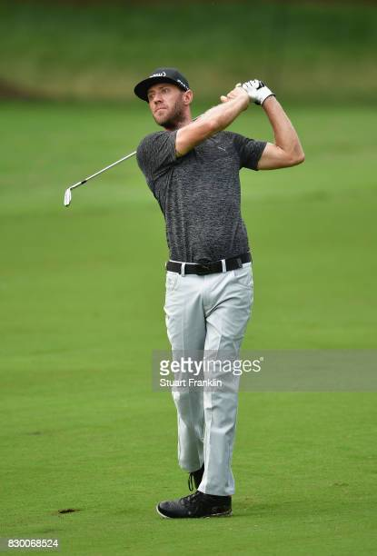 Graham DeLaet of Canada plays his third shot on the second hole during the second round of the 2017 PGA Championship at Quail Hollow Club on August...