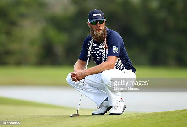 Graham DeLaet of Canada prepares to putt on the second hole during the first round of the Puerto Rico Open at Coco Beach on March 24 2016 in Rio...