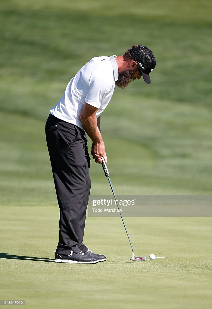 Graham DeLaet of Canada putts on the first green during the first round of the Barracuda Championship at the Montreux Golf and Country Club on June 30, 2016 in Reno, Nevada.