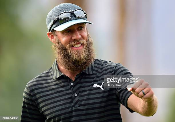 Graham DeLaet of Canada reacts after making a birdie on the 10th green during the third round of the CareerBuilder Challenge In Partnership With The...
