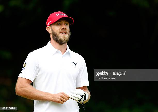 Graham DeLaet of Canada tees off on the sixth hole during the Final Round of the Northern Trust Open at the Riviera Country Club on February 22 2015...