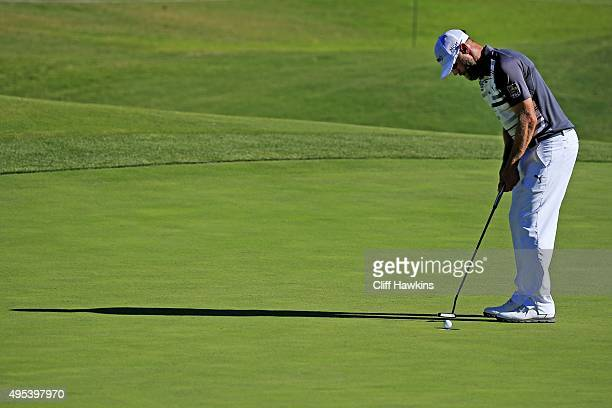 Graham DeLaet of Canada uses his putter to sink the putt during the second round of the Shriners Hospitals For Children Open on October 23 2015 at...