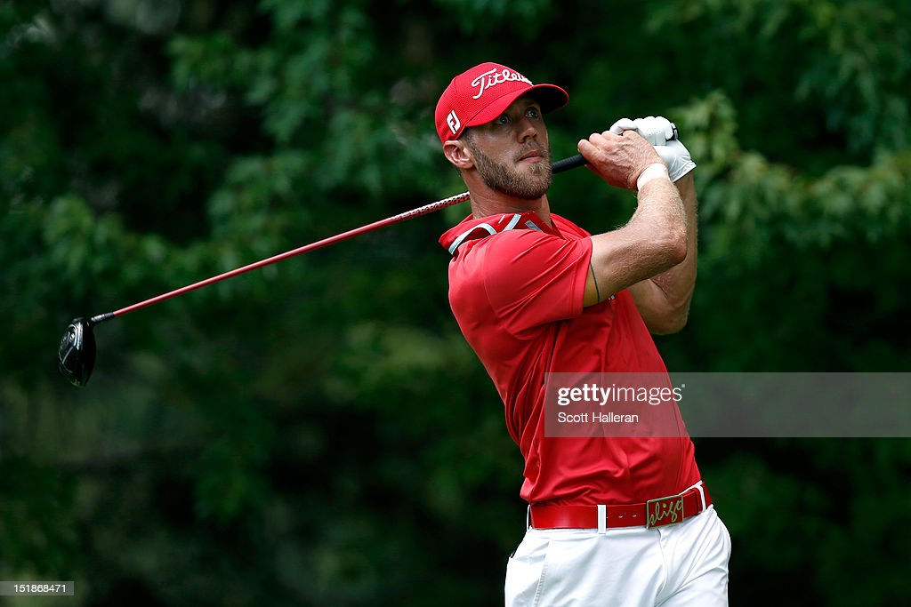 Graham Delaet of Canada watches his tee shot on the fifth hole during the first round of the BMW Championship at Crooked Stick Golf Club on September 6, 2012 in Carmel, Indiana.