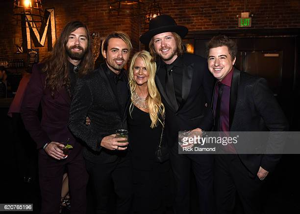 Graham DeLoach Zach Brown Allison Jones Michael Hobby and Bill Satcher attend the Big Machine Label Group's celebration of the 50th Annual CMA Awards...